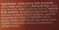 Natillas con galleta - Ingrédients - fr