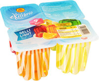 Gelli Light gelatina sabores fresa, naranja multifrutas y limón - Producto