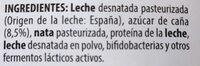 Bifidus cremoso - Ingredientes