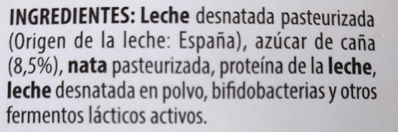 Bifidus cremoso - Ingredients - es