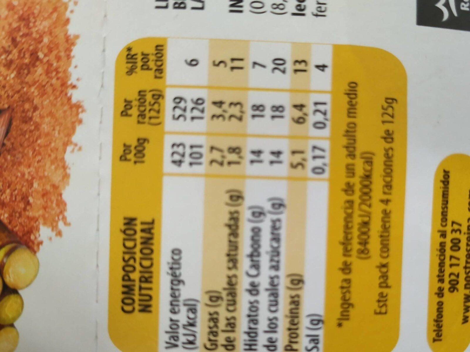 Bifidus cremoso - Información nutricional - es