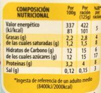 Yogur de coco - Nutrition facts - es