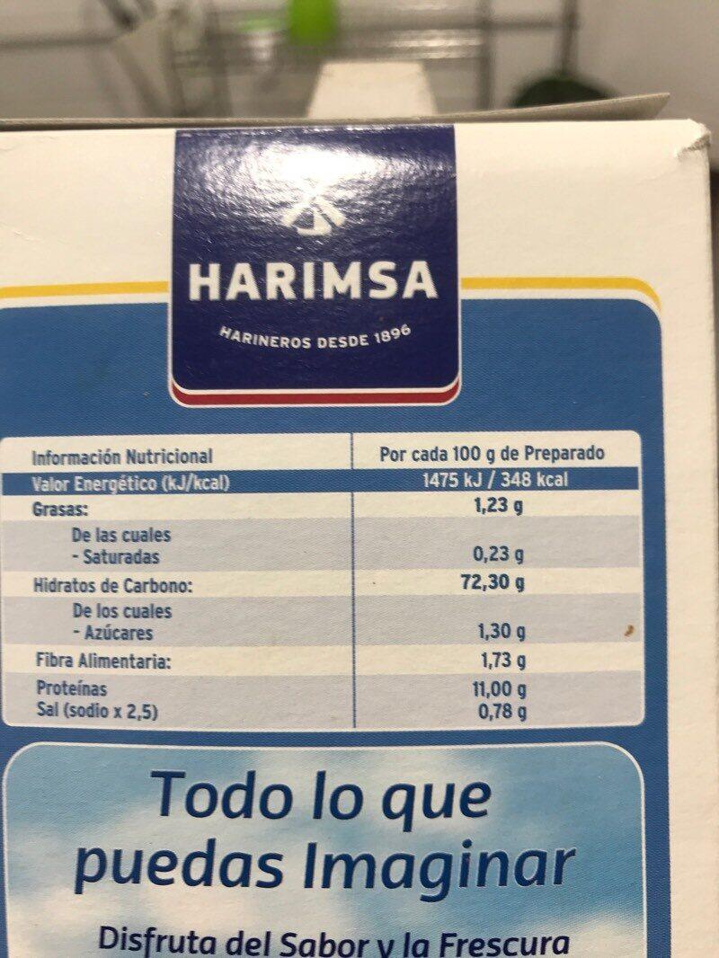 Témpura - Informació nutricional