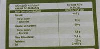 Harina de garbanzo - Informations nutritionnelles - es