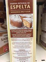 Harina integral de espelta - Ingredients