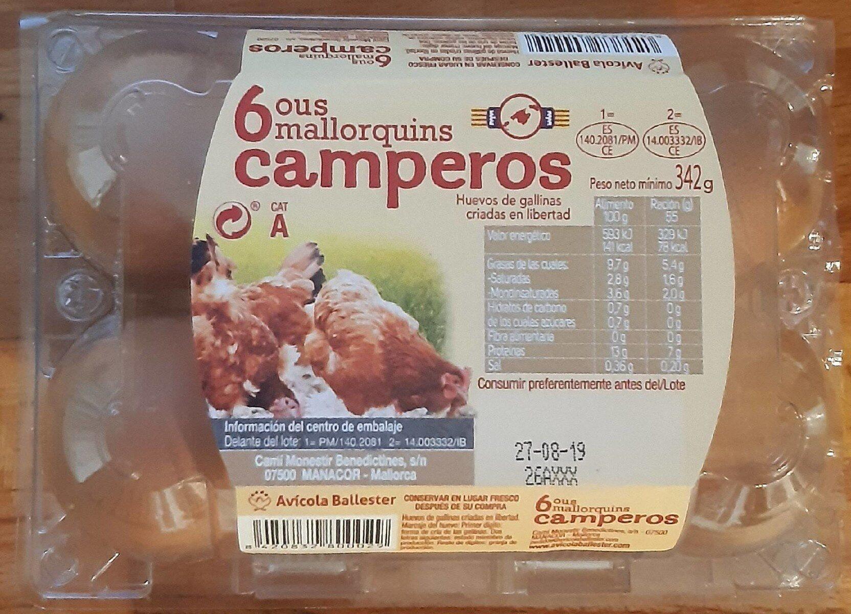 Huevos mallorquines camperos cat A - Product
