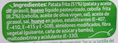 Tortilla de patata - Ingredientes