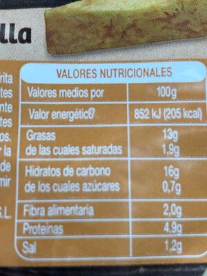 Tortilla de patata - Nutrition facts