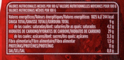 La Originale Carbonara - Voedingswaarden