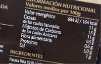 Tortilla de patata con cebolla y huevos camperos - Información nutricional - es