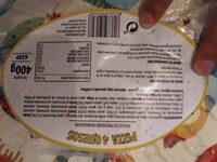 Pizza 4 quesos - Informazioni nutrizionali - es