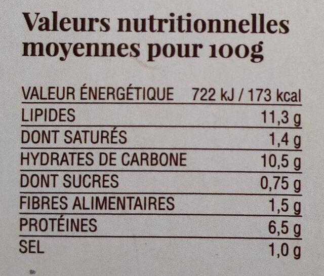 Tortilla nature BIO - Voedigswaarden