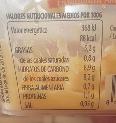 Ensaladilla Americana - Información nutricional - es