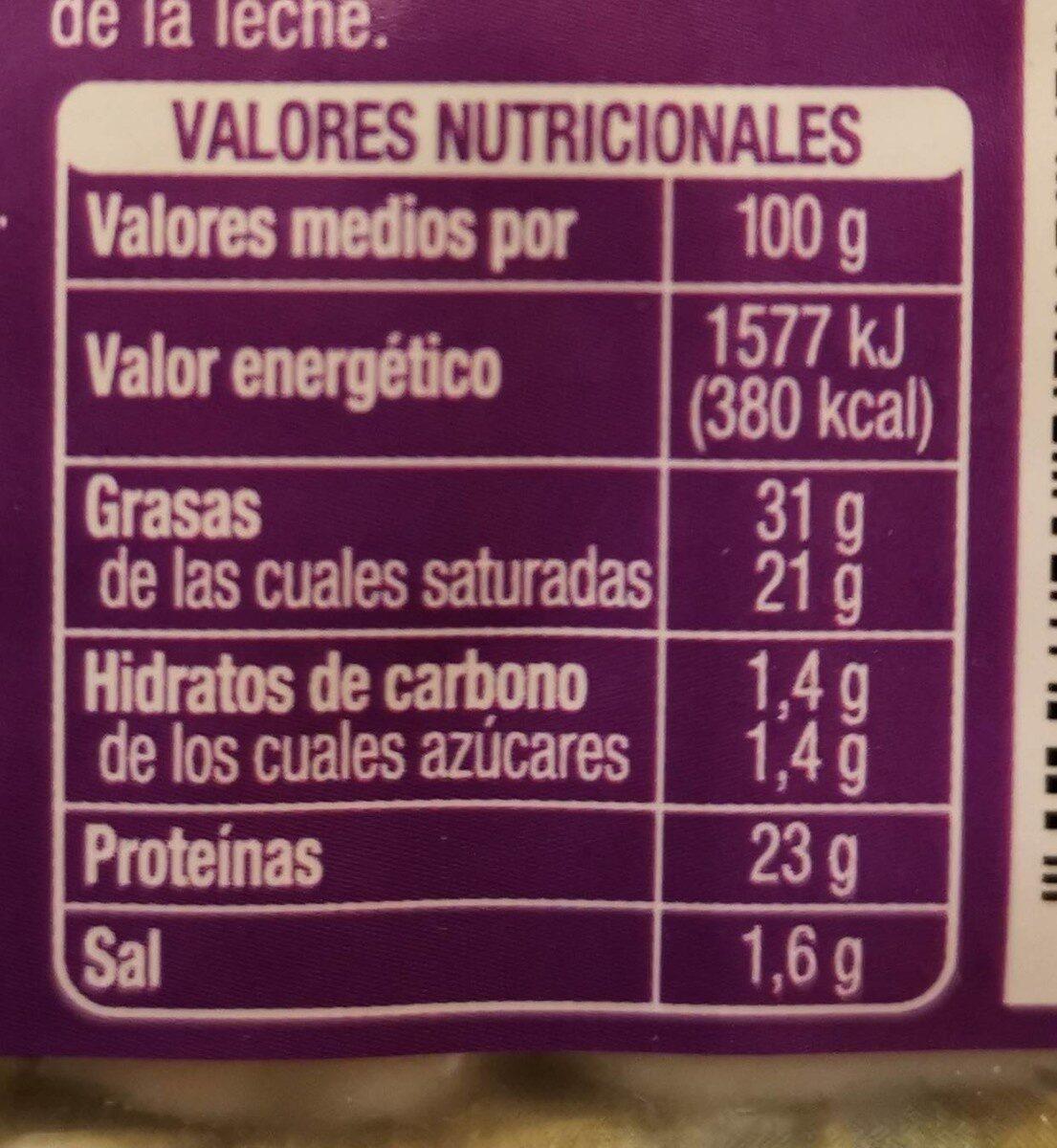 Queso Mezcla Semicurado - Información nutricional
