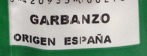 Garbanzos - Ingredients