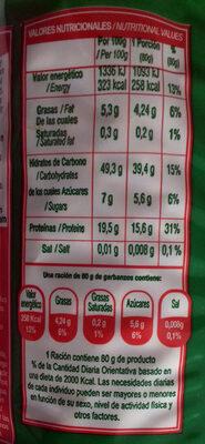 Garbanzos - Información nutricional - es