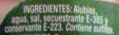 Alubias cocidas - Ingredientes - es