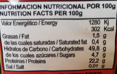 ALUBIA BLANCA - Información nutricional - es