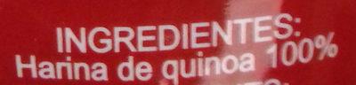 Harina de quinoa - Ingredientes