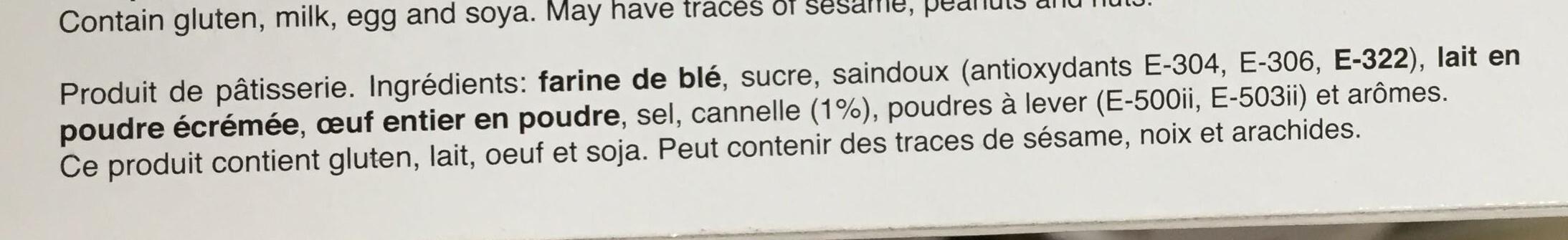 Biscuits de canela - Ingredients - fr