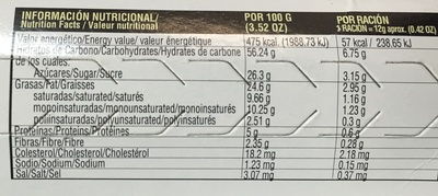 Biscuits de Canela - Voedingswaarden