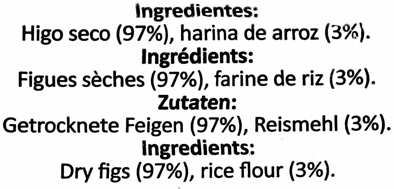 Higos secos - Ingredientes