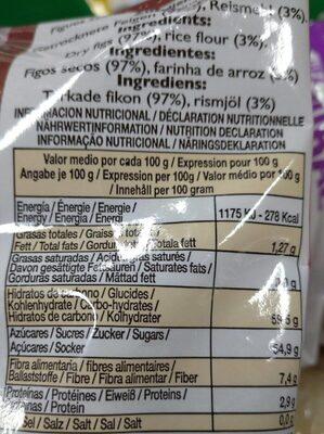 Higos secos - Informations nutritionnelles - es