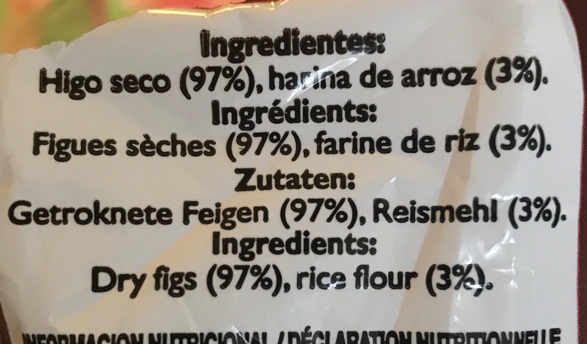 Higos secos - Ingrédients - fr