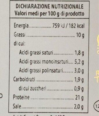 Salmone - Informations nutritionnelles - it