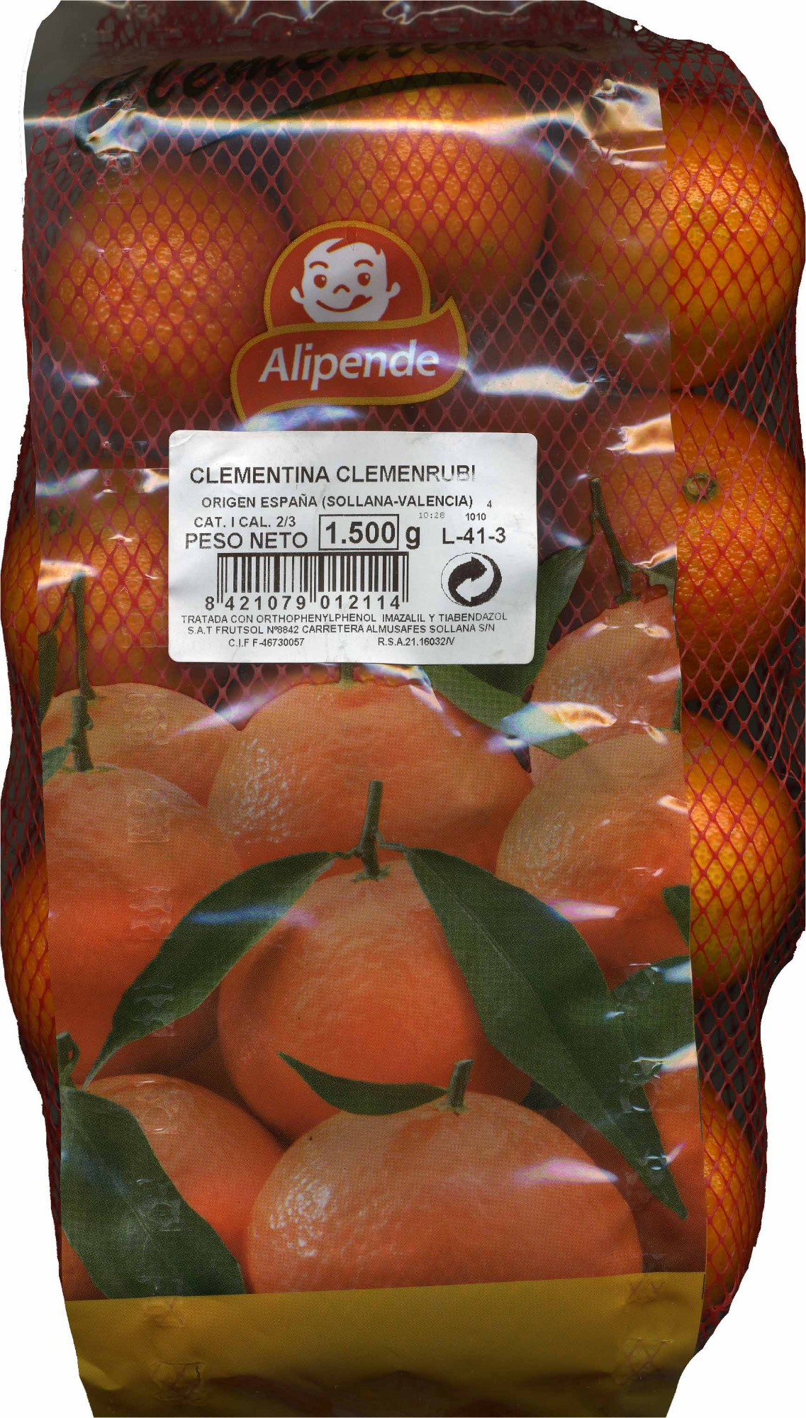 "Clementinas ""Alipende"" - Producto"
