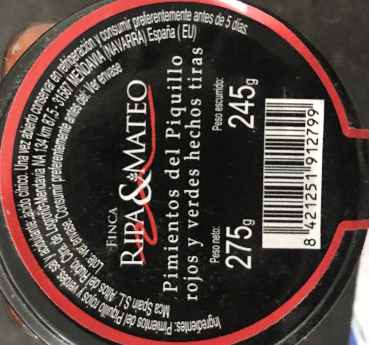 Pimientos del piquillo rojos y verdes - Ingredientes - fr