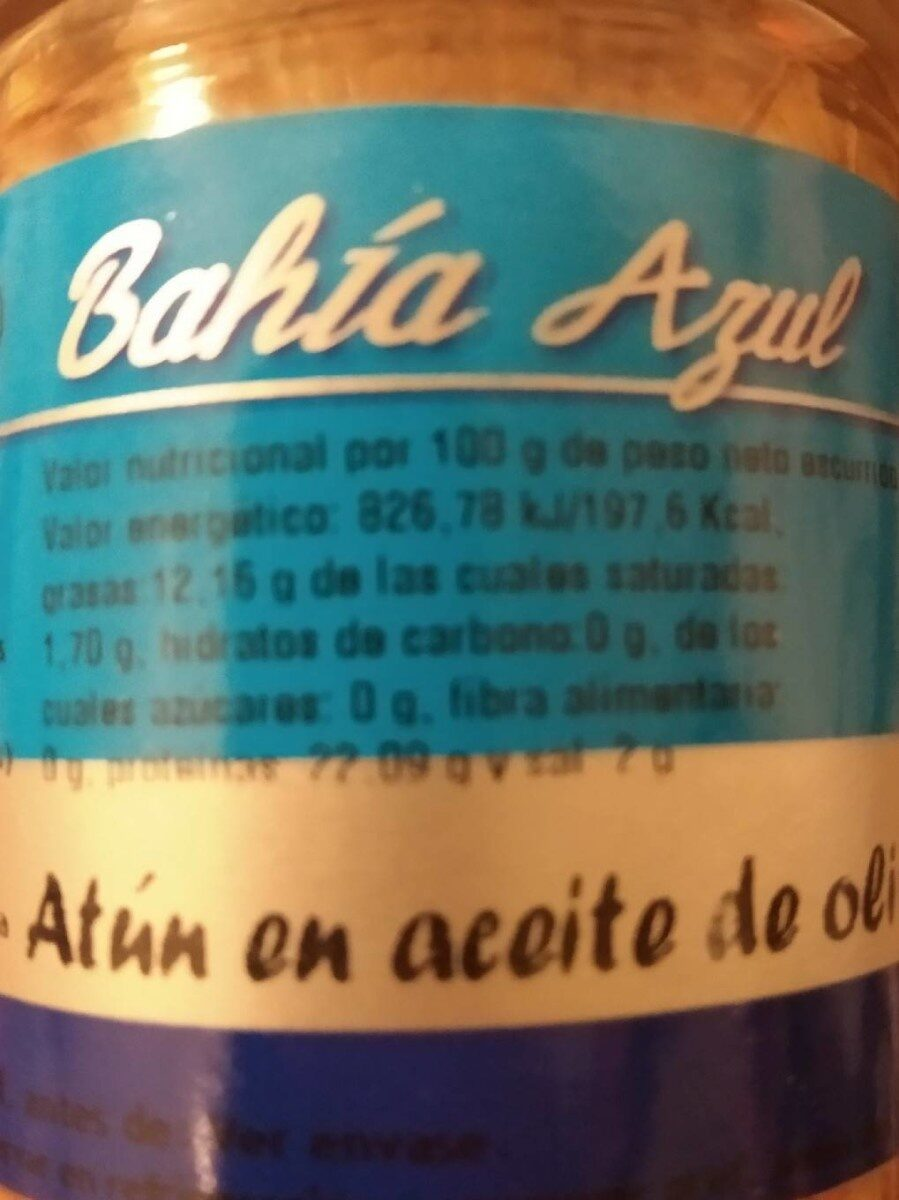 Bahía azul - Informations nutritionnelles
