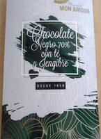 Chocolate negro 70% con té y jengibre - Product - es