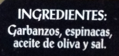 Garbanzos con espinacas - Ingredients