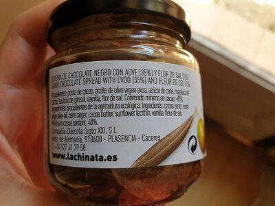 Crema de chocolate con aove y flor de sal - Ingrediënten