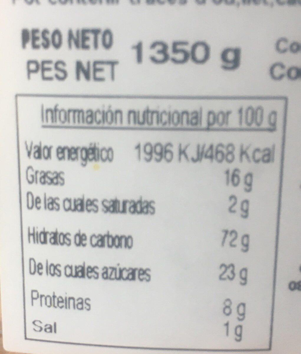 GalletaS - Nutrition facts