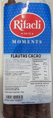 Flautas cacao