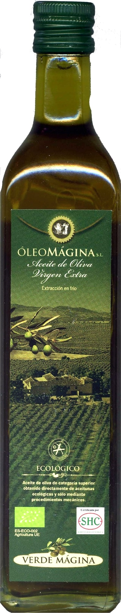 """Aceite de oliva virgen extra ecológico """"Verde Mágina"""" - Producto"""