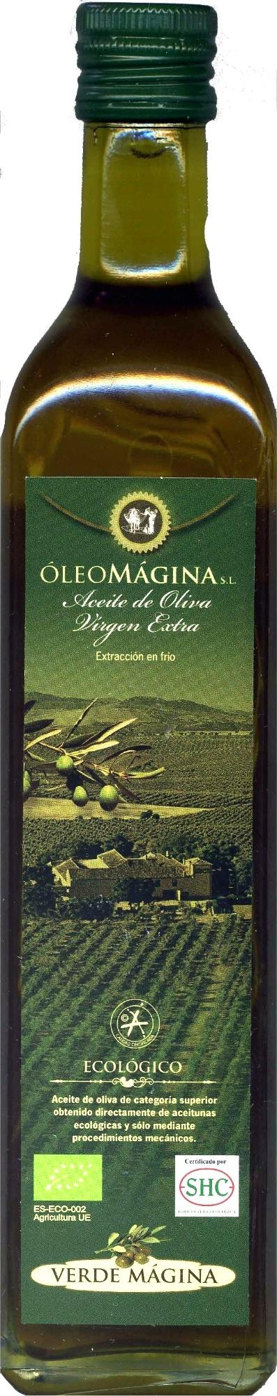 "Aceite de oliva virgen extra ecológico ""Verde Mágina"" - Producte"