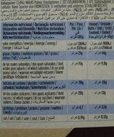 Vainilla sin lactosa - Informació nutricional