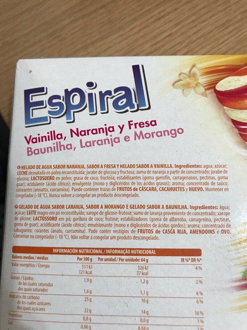 Espiral - Ingredients