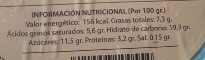 Helado almendra - Nutrition facts