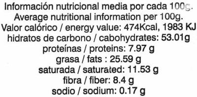 Cookies con chocolate - Informació nutricional