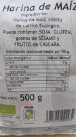 Harina de maiz - Nutrition facts