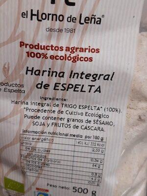 Harina integral de espelta - Product - es