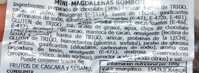 Bombón Chocolate - Ingredients