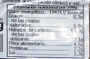 Bombón Chocolate - Información nutricional - fr