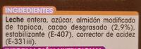 Chocolate a la taza - Ingredientes - es