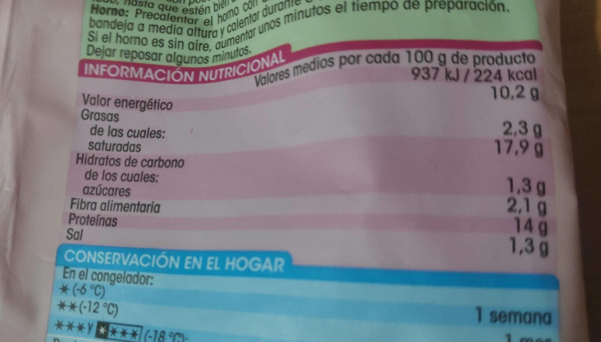 Nuggets de pechuga de pollo - Informació nutricional - es