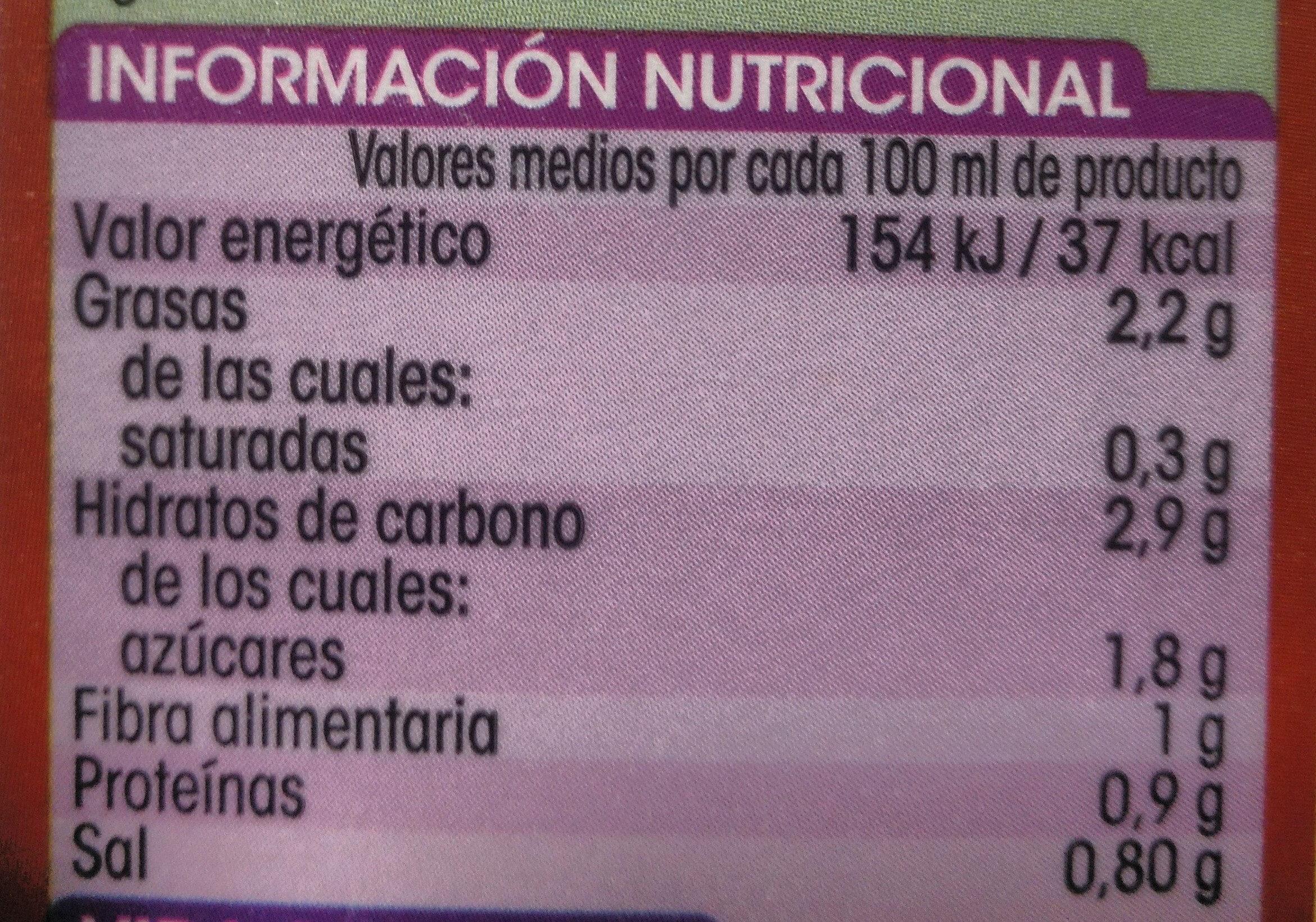 Gazpacho alipende - Información nutricional - es